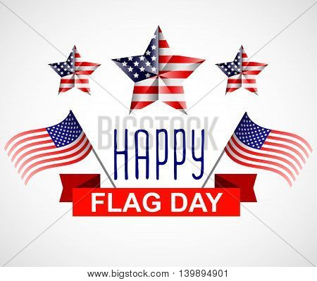 Happy Flag Day background template, greeting card