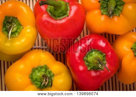 Bell pepper fresh organic red bell peppers