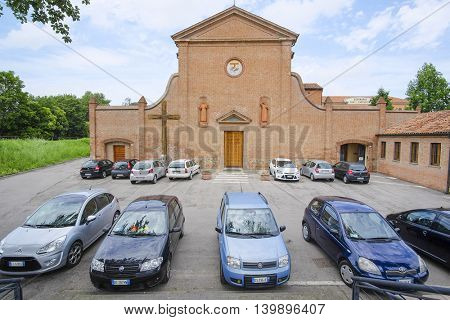 Rovigo, Italy - June, 17, 2016: car parking in Rovigo, Italy