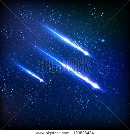 Comet on the sky easy all editable