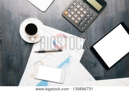 Office Desk With Objects