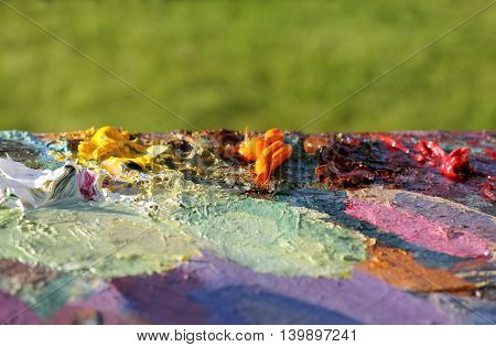 abstract background with a color palette of mixed colors / colors of unique art
