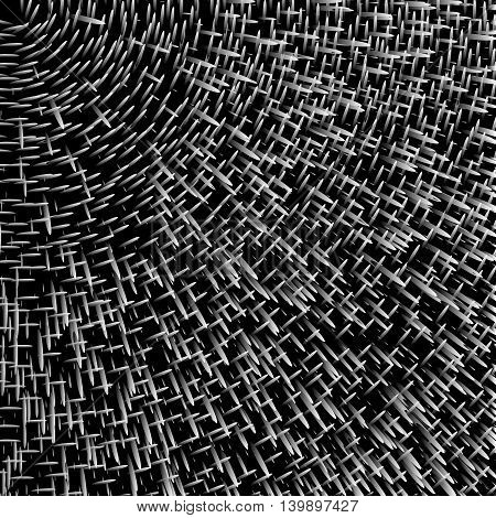 Abstract background, optical illusion of gradient effect. Stipple effect. Rhythmic noise particles. Grain texture