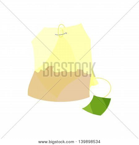 Teabag icon in cartoon style isolated on white background