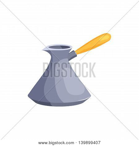 Turkish coffee maker, cezve icon in cartoon style isolated on white background