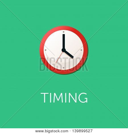 Flat design concept for time management targeting work planning and timing