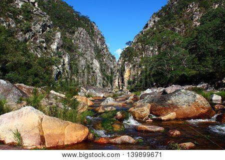 Bandeirinhas Canyon, Serra do Cipó National Park, Minas Gerais, Brazil