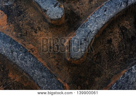 Old tire texture of tractor truck Pattern background