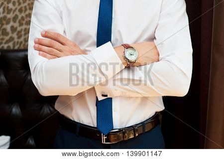 Man With Crossed Hands.