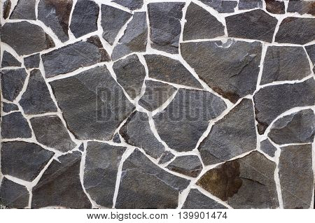 Slate Stone Wall Textured Background Colored
