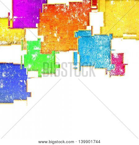 grunge colorful squares on a white background