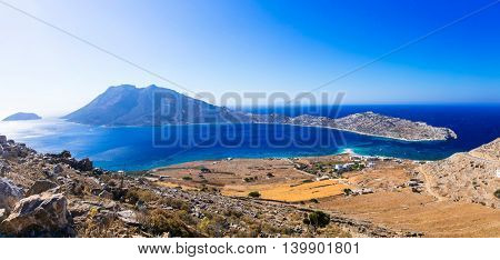 Breathtaking panoramic views in Amorgos island. Cyclades, Greece