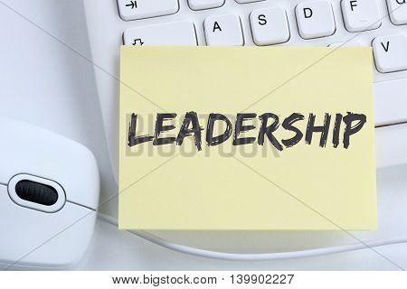 Leadership Leading Success Successful Growth Finances Business Concept Office