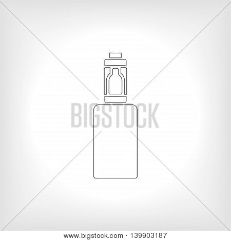 Icon or emblem of the electronic cigarette, vector illustration