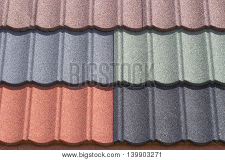 Colorful Shingles Closeup Texture Backgrounds Advertising