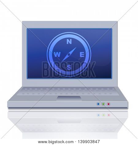 compass icon on laptop