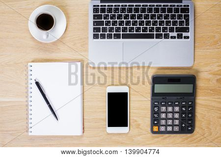 Office Table With Objects