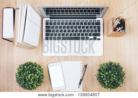 White Smartphone And Laptop