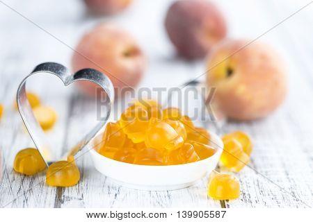 Gummy Peaches (close-up Shot)