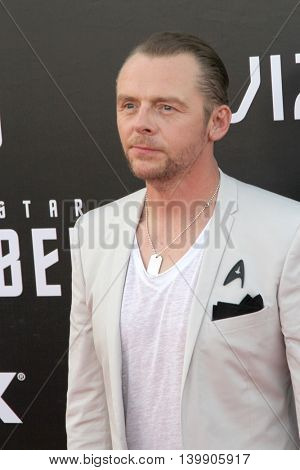 Simon Pegg attends at the Star TreK Beyond  premiere during Comic Con on July 20, 2016 at the Embarcadero Marina Park South in San Diego, CA.