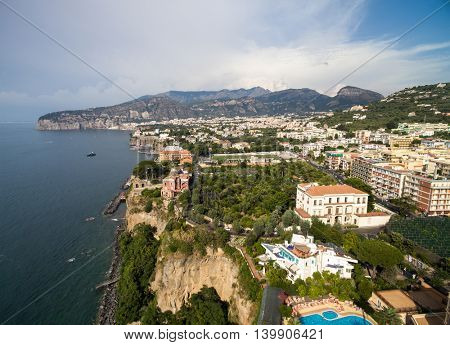 Aerial View of Sorrento, Italy