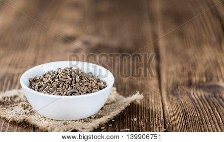 Valerian Roots On A Wooden Table