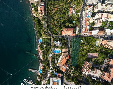 Top View of Sorrento, Italy