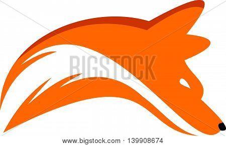 unique wild head fox icon logo illustration