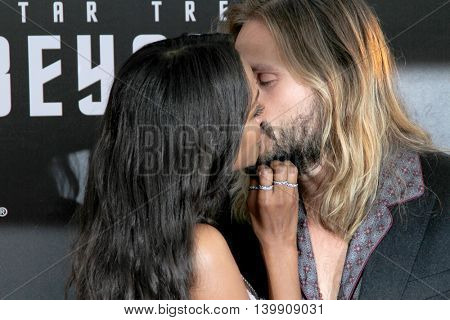 Zoe Saldana and Marco Perego attend at the Star TreK Beyond  premiere during Comic Con on July 20, 2016 at the Embarcadero Marina Park South in San Diego, CA.