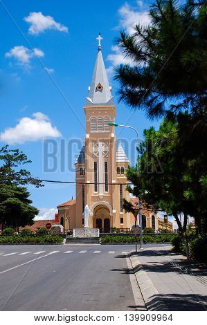 Cathedral church, Da Lat city,Lam Dong province, Vietnam