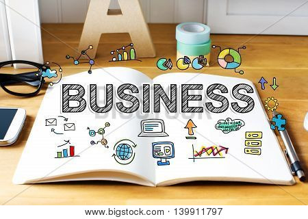 Business Concept With Notebook