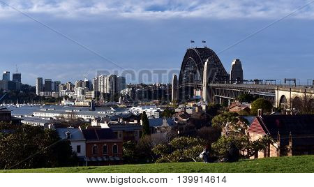 Sydney Harbour viewed from Observatory Hill (Sydney, Australia)