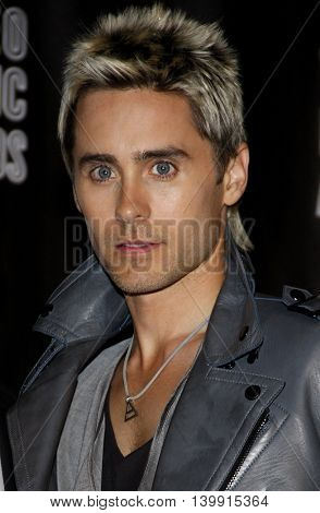 Jared Leto at the 2010 MTV Video Music Awards held at the Nokia Theatre L.A. Live in Los Angeles, USA on September 12, 2010.