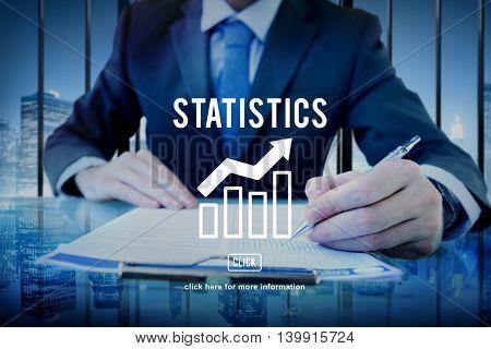 Business Progress Report Graph Concept