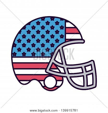american football with flag usa isolated icon design, vector illustration  graphic