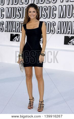 Maria Menounos at the 2010 MTV Video Music Awards held at the Nokia Theatre L.A. Live in Los Angeles, USA on September 12, 2010.