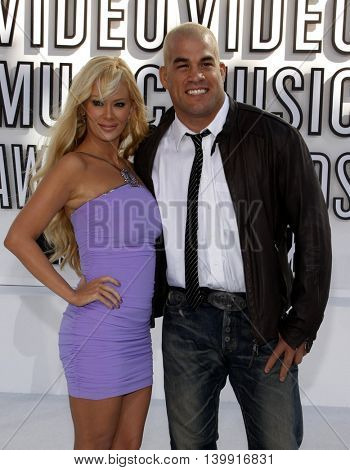 Tito Ortiz and Jenna Jameson at the 2010 MTV Video Music Awards held at the Nokia Theatre L.A. Live in Los Angeles, USA on September 12, 2010.