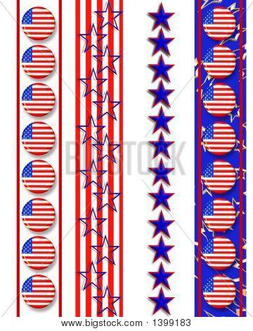 Patriotic Web Page Borders