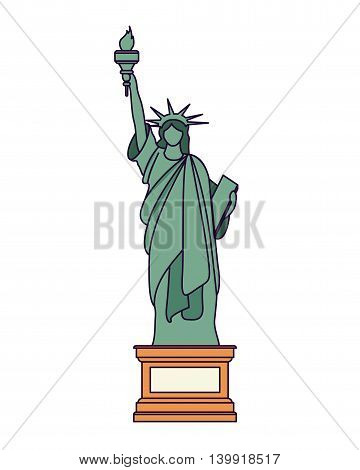liberty statue isolated icon design, vector illustration  graphic