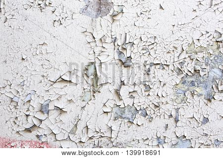 Wall Surface With Old Cracked Paint