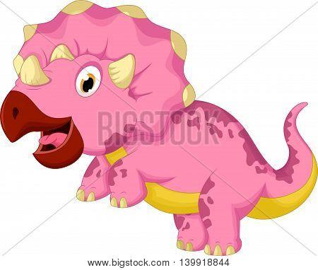 funny dinosaur cartoon posing for you design