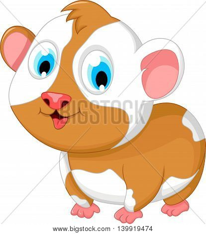 funny fat hamster cartoon posing for you design