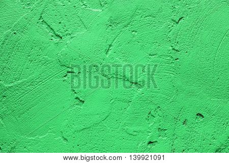 Wall painted in retro green texture background
