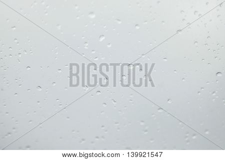 water drop over the clear glass, free space for text