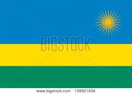 Vector Republic of Rwanda flag