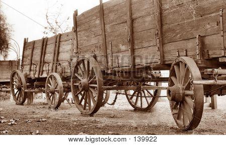 Vagones en Sepia