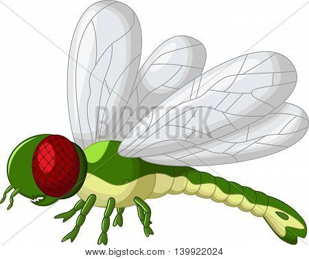 cute green dragonfly cartoon for you design