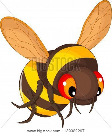 cute bee cartoon flying for you design
