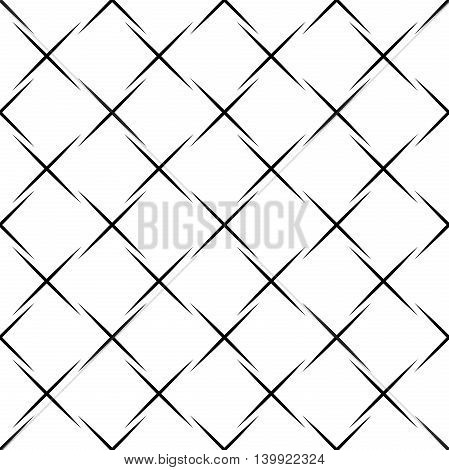 Geometric abstract background. Seamless modern black and white pattern