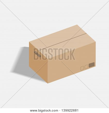 Vector isometric cardboard boxes. packaging, box icon